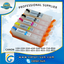 5 Refill Refillable Ink Cartridges for Canon PIXMA IP7250 iX6850 iP8750 ip7220 ip8720 MG5430 mx923 etc.