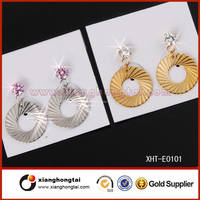 popular silver and gold plated design handmade earing