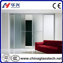 CE size customized residential use sliding glass pocket doors