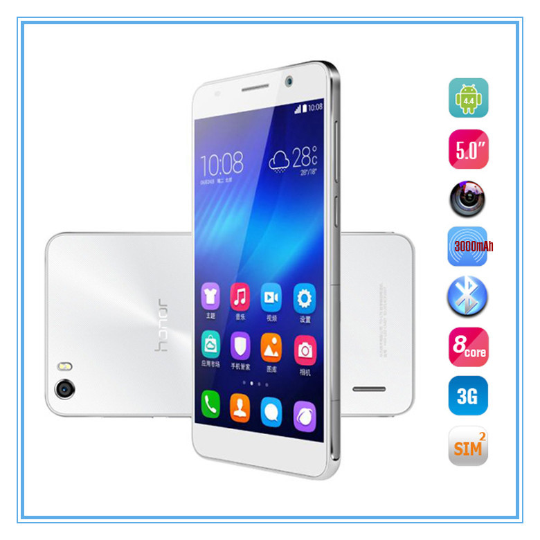 High quality 5inch cell phone 1920*1080 octa core Huawei honor6 4G LTE cell phone 3GB RAM 3G unlocked android4.4
