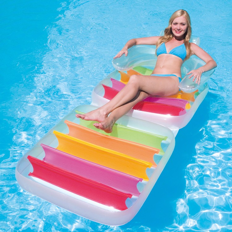 foam swimming pool floating mat Water play inflatable folding lounge floating pool chairs for adult