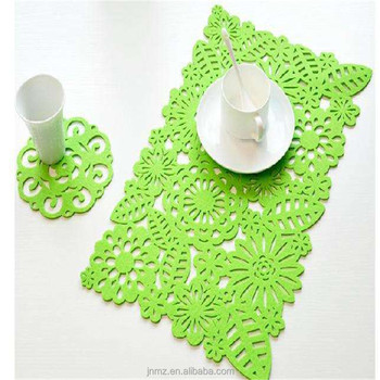 Eco friendly product home felt decoration placemat felt table placemat