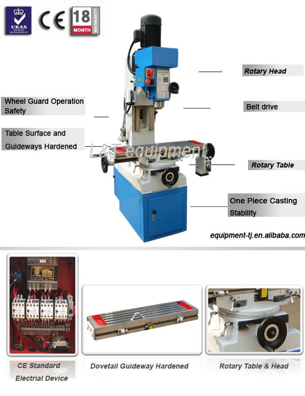 ZX50A Mini Vertical Milling Machine