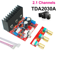 Mega Bass TDA2030A Subwoofer Amplifier 2.1 Channel Audio Power Amplifier PCB Board Module (Assembled) 15W*2+15W suitable for DIY