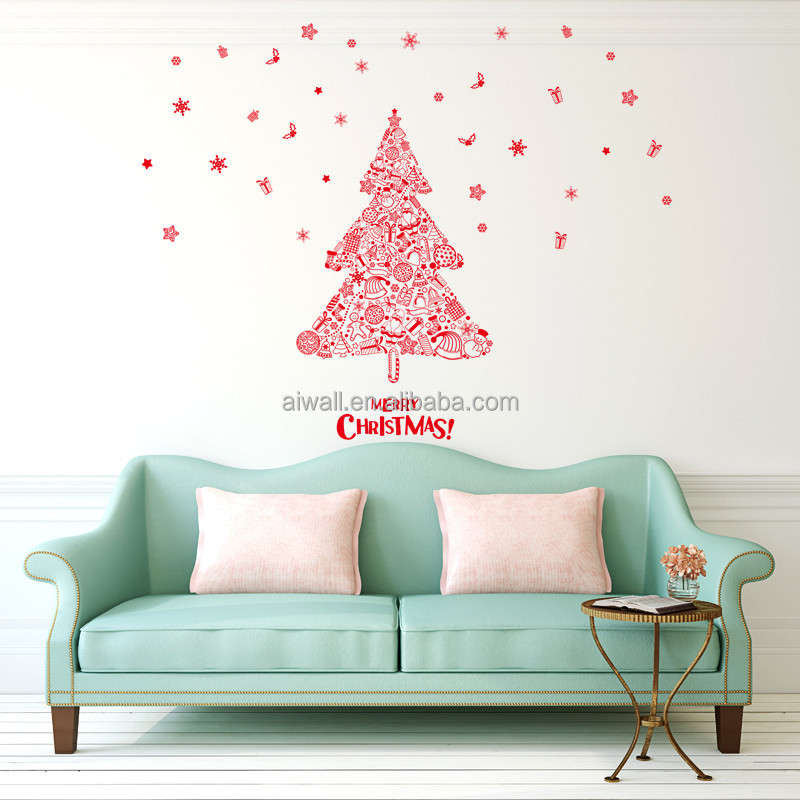 7222 3D PVC Removable Merry Christmas Wall Sticker For Family Love