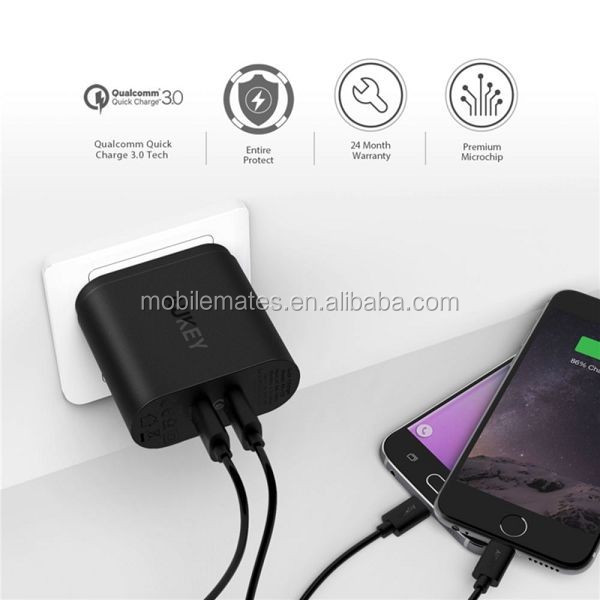 AUKEY PA-T13 Qualcomm Quick Charger 3.0 Tech 34.5W 9V 12V 2 Ports USB Wall Charger