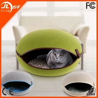 Pastoral Natural Egg-Shapped Cat Dog Bed, Pet House, Detachable Dog Bed Cat Litter