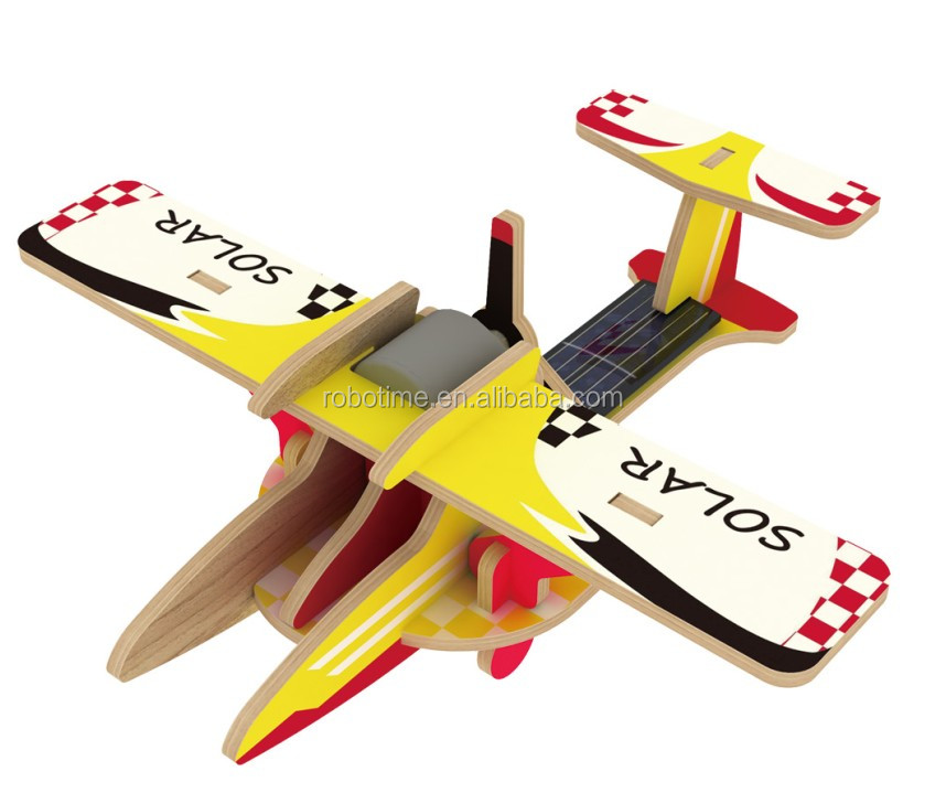 Promotional China Environmental Solar toy plane model