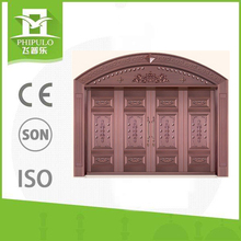 Special style copper imitation villa main gate designs with sun proof