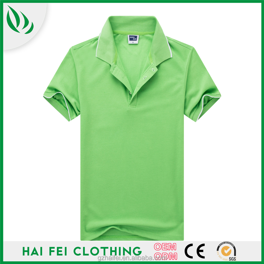 2017 Custom High Quality Solid Haifei golf dry fit mans polo shirt