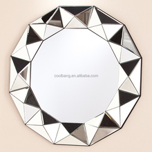 hot sale unique 3D frame decorative star shaped wall mirror