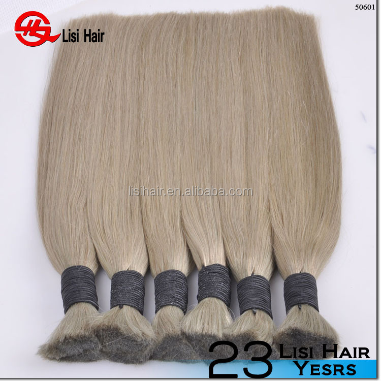 2015 Hot Arrival New Products Wholesale Bulk remy hair wefts 18 inch light blonde