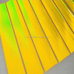 Fluorescent yellow and green High Intensity retro prismatic reflective tapes