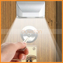 Wireless Stick Auto PIR 4 LED Lamp Motion Sensor Detector Night Light Door Keyhole Lamp