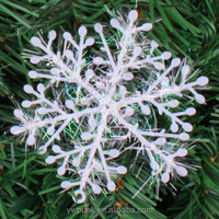 Free Shipping 3 Sizes Christmas Snow White Snowflake Bunch Hanging Ornaments Stereoscopic Snow Christmas Tree Decoracion