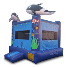 PVC whale bounce house durable jumping castle kids inflatable bouncer 0.55 mm Plato materiall moonwalk
