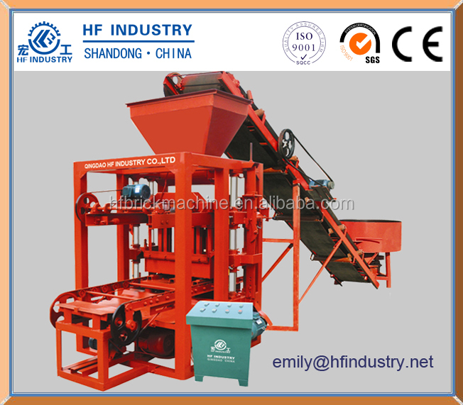 QT4-26 cement brick making machine roof tile interlocking paver brick machinery for sale
