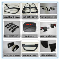 for toyota 2015 hilux accessories ABS matte black full black kits for toyota hilux revo 2016 Thailand model