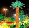 Home garden decorative 750cm Height outdoor artificial yellow flashing LED solar lighted up Date palm trees with bark EDS06 1409