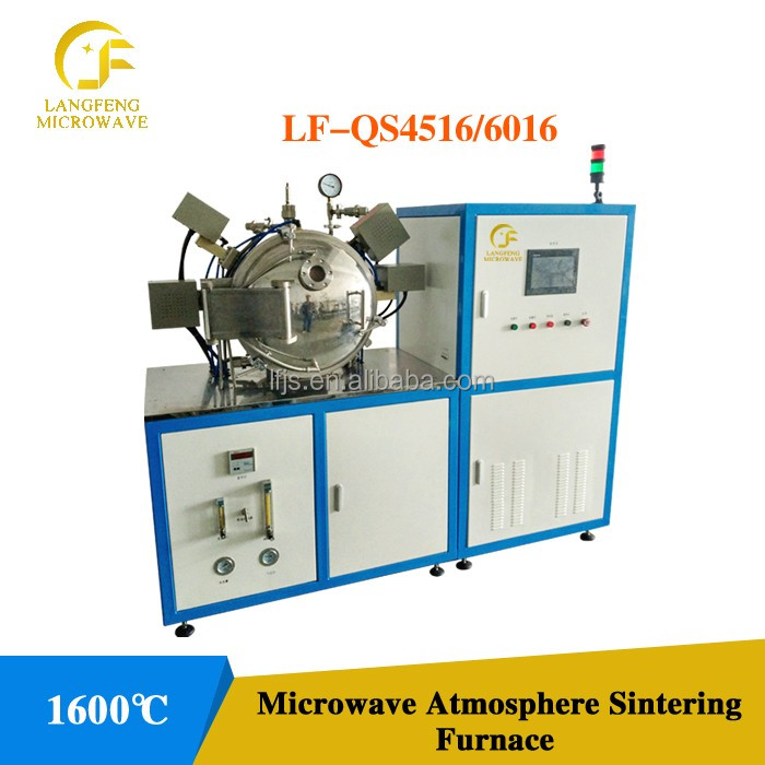 microwave sintering furnace for metallic powders with controlled atmosphere