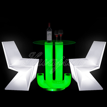 led light modern coffee table/ illuminated led rechargeable furniture