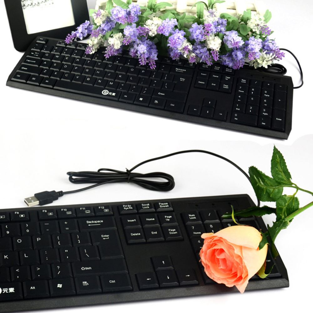 High Quality Ultra Thin 104 Keys Gaming Keyboard Mini USB Wired Keyboard For Laptop PC Gaming Ergonomic Keyboard K100