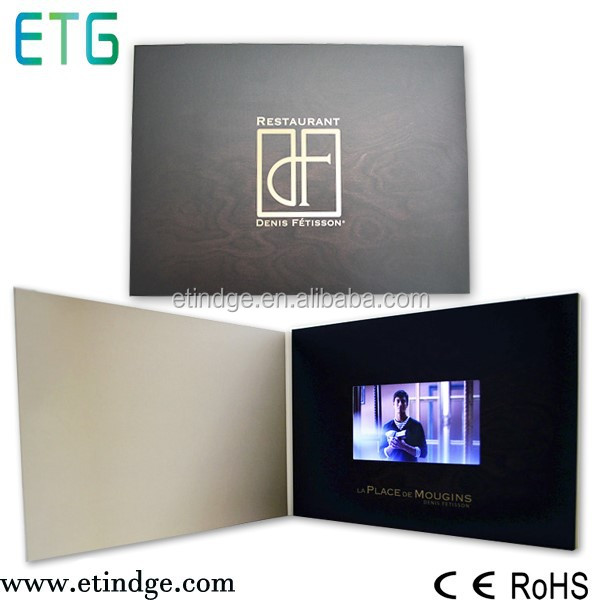 Cooperate type invitation musical lcd video greeting card