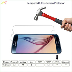 0.26mm 9H for Samsung Galaxy S7 mobile phone/cell phone transparent tempered glass