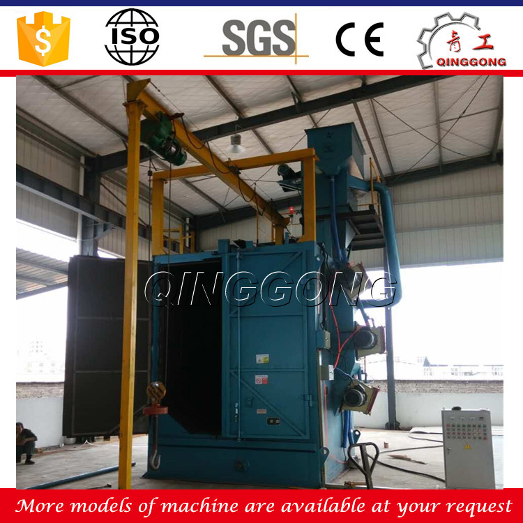 High Efficiency Double Hanger/ Hook Type Shot Blaster/Sand Blast Cleaning Machine Manufacturer
