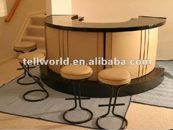 Elegant Semi Circle Home Bar Design Artificial Marble Bar