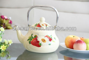 2014 NEW STYLE ENAMEL TEAPOT WITH stainless steel HANDLE