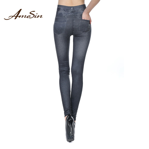 AMESIN High Quality Leggings Fabric Brand Jean Supplier Body Shaper leggings