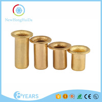 Factory promotion price fashion metal copper tube rivets