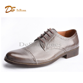 Guangzhou latest style fashion footwear men laces up dress shoes
