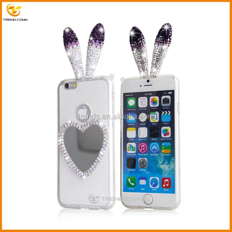 china wholesales for iphone 6 plus diamond Ears mobile phone case
