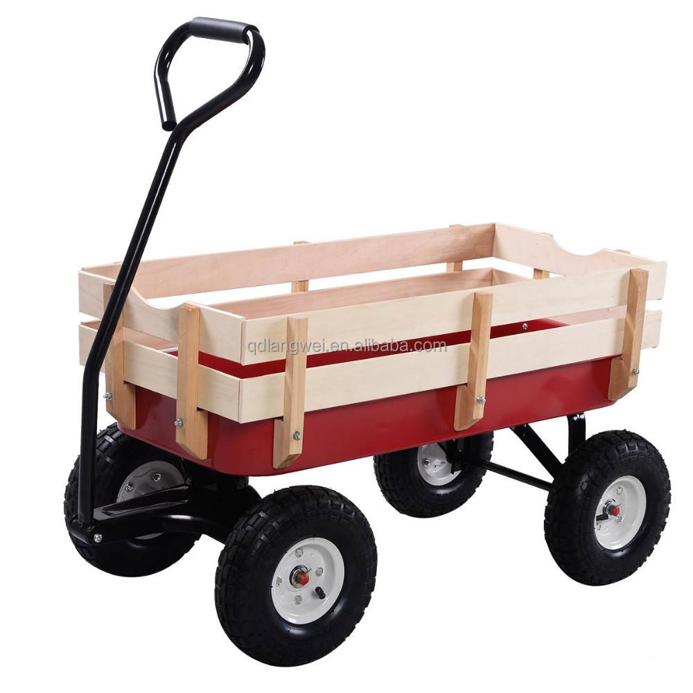 4 wheel pull all terrain pulling wood wagon buy all terrain pulling wagon wood wagon all. Black Bedroom Furniture Sets. Home Design Ideas