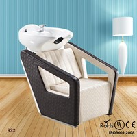 Commercial beauty hair salon furniture white shampoo chair(922)