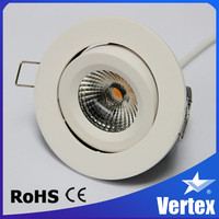 Adjustable 8W Sharp COB led home lighting, Tridonic driver included dimmable