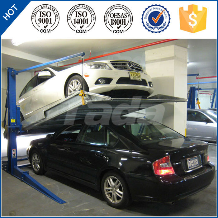 Hydraulic robot parking system two post mini lifting car parking lift/2 post parking lift/vehicle parking lot solution