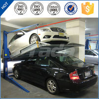 Robot parking system two post mini lifting car parking lift/2 post parking lift/vehicle parking lot solution