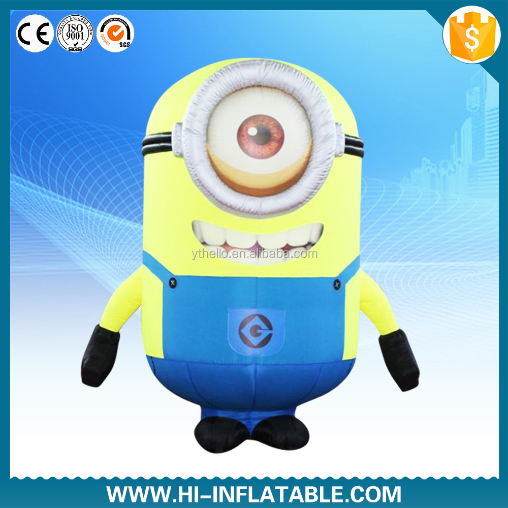 inflatable minion costumes for kids /inflatable despicable me minion mascot costume