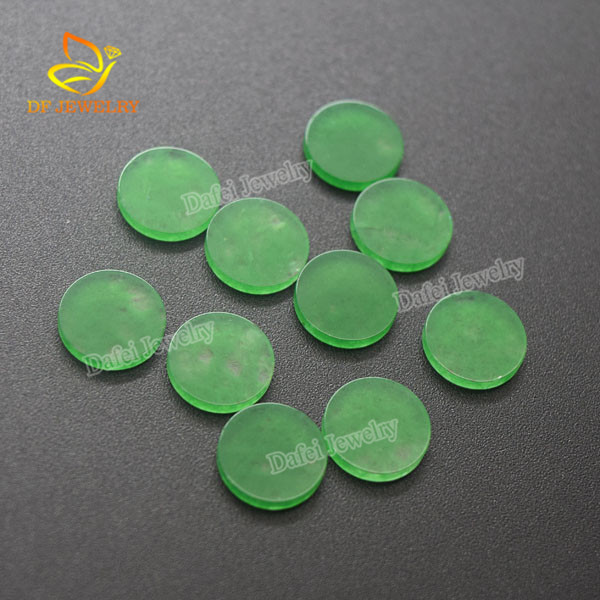Top Quality Round Flat <strong>Natural</strong> Green Jade