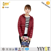 extreme women clothing supplier in China winter jacket ultralight duck down jacket