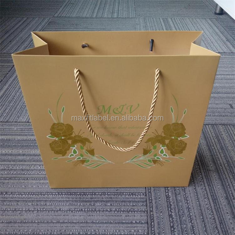 china factory custom cheap small paper gift bags with handles