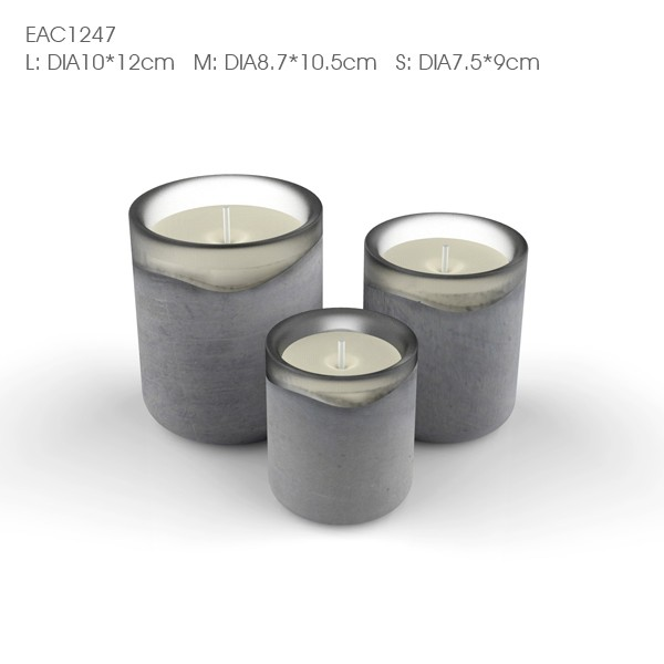 China glassware manufacturer glass candle holder and crystal cement candle holder for decorations