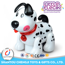 Remote control small pet mini plastic dog figurines with music