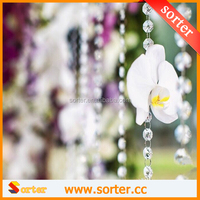 CLEAR 14MM CRYSTAL BEAD GARLAND / WEDDING DECORATION / CRYSTAL TREES