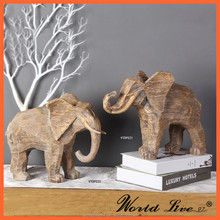VTDP032 Resin Art and Craft Elephant Sculpture