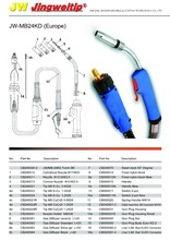 MB-24KD Europe mig welding torch/gun