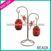 cup cylinder pumpkin shaped candle holder with stem
